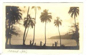 RP; Girls dancing along shoreline (AM), Samoa, 00-10s