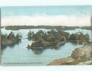Unused Pre-1907 OUT OF SIGHT CHANNEL Thousand Islands New York NY n5273