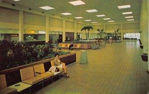 Columbia South Carolina inside Columbia Metropolitan Airport vintage pc ZA440834
