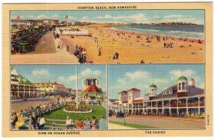 Hampton Beach, New Hampshire, View On Ocean Avenue, The Casino