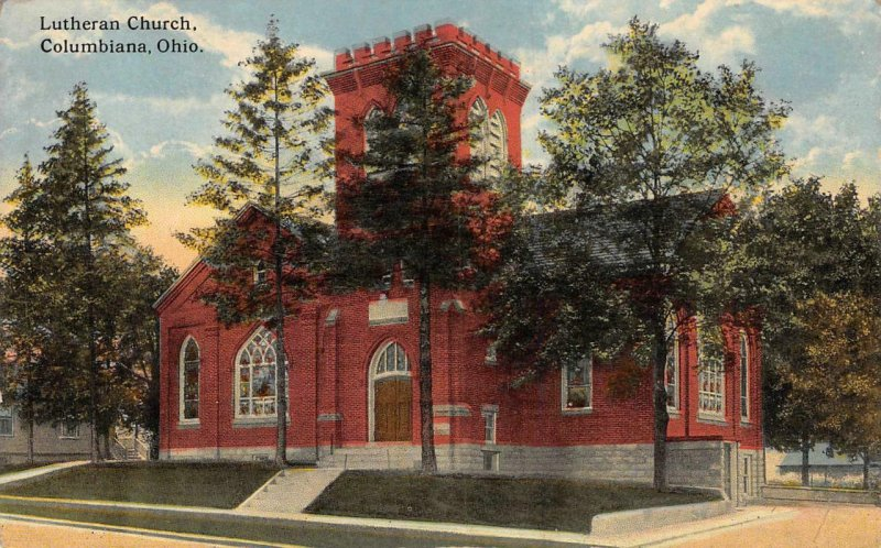 Lutheran Church, Columbiana, Ohio ca 1910s Vintage Postcard