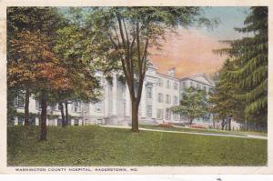 Maryland Hagerstown Washington County Hospital 1925 Curteich