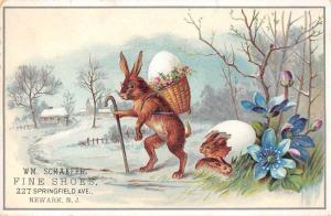 Newark New Jersey Schaefer Shoe Rabbit Advertising Non Postcard Back J76677