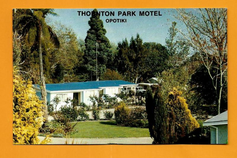 NEW ZEALAND VINTAGE POSTCARD-THORNTON PARK MOTEL-OPOTIKI