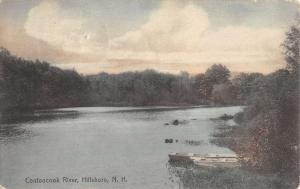 Hillsboro New Hampshire Contoocook River Waterfront Antique Postcard K97144
