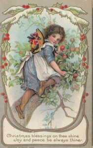 CHRISTMAS , Girl in an apple tree , 1911