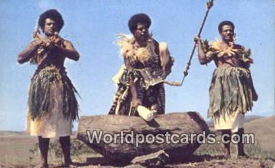 Fiji, Fijian Beating the Lali  Beating the Lali