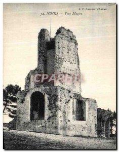 Old Postcard Nimes Tour Magne