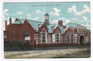 Central Hall Bromley Kent UK 1910c postcard