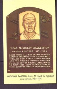 Oscar Charleston Baseball Hall of Fame Post Card PPC2490