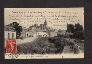 France Arrivee par la route de Saint Malo Postcard Carte Postale French