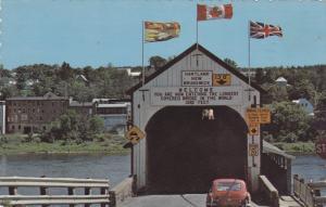 Longest Covered Bridge in the World , HARTLAND , New Brunswick , Canada , PU-...