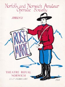 Rose Marie Norwich Norfolk 1968 Theatre Programme