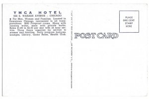 YMCA Hotel, Chicago, unused linen American Art, cars
