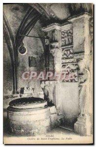 Postcard Ancient Arles Cloitre Saint Trophime Le Puits