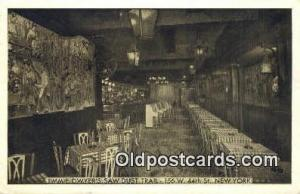 Jimmie Dwyer's Saw Dust Trail Restaurant, New York City, NYC Postcard Post Ca...