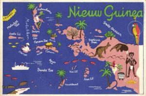 indonesia, DUTCH NEW GUINEA, Moluccas, Kangaroo Coal Gold Parrot (1940s)