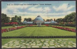 Belle Isle Conservatory,Detroit,MI Postcard BIN