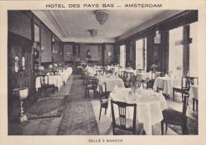Salle A Manger Hotel Des Pays Bas Amsterdam Netherlands