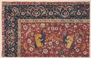 Animal Rug , From the tomb-mosque at Ardebil , Persian, XVI Century , 1910s
