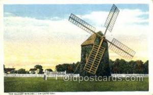 The Oldest Windmill On Cape Cod, Mass USA Windmill, Wind Mill Old Vintage Ant...