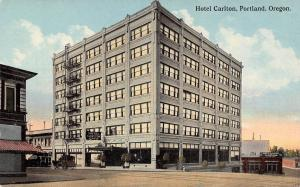 Portland Oregon~Hotel Carlton & Cafe~Auto Livery Taxi Cabs~Razed 1965~1914 PC