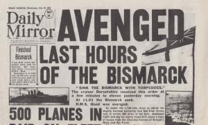 Bismarck Submarine Sunk In WW2 Disaster Military Newspaper