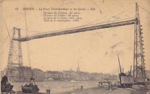 ROUEN, Le Pont Transbordeuret les Quais, Haute-Normandie, France, 10-20s