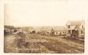 Bronson IA New House Built in Residential Area~Hilly, Clumpy, Dirt Rd RPPC 1912