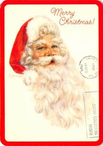 Modern Card Santa Claus Postal Used Unknown postal marking on front