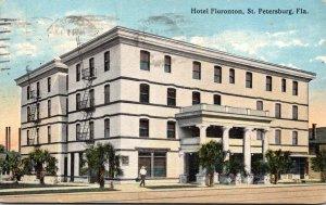 Florida St Petersburg Hotel Floronton 1915 Curteich