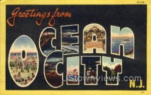 Greetings From  Ocean City NJ 1946