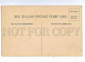 184848 NEW ZEALAND Coat of arms STAMPS vintage Zieher Postcard