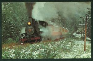 Black Hills Central 104 SNOW SCENE South Dakota Train Baldwin Railroad Postcard