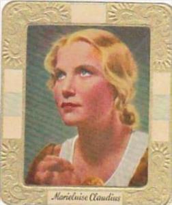 Garbaty Cigarette Card 1934 Modern Beauties No 105 Marieluise Claudius