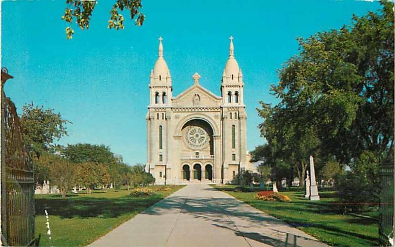 St. Boniface Cathedral in City if St. Boniface near Winnipeg