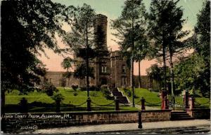 Allentown Pennsylvania~Lehigh County Prison~Chain Gate~Terraced Steps~1908 PC