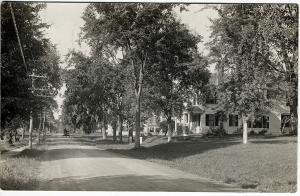 Elmwood MA Street View 1911 RPPC Real Photo Postcard