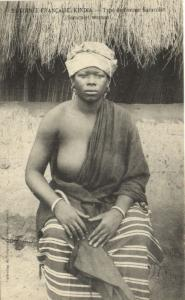 CPA Senegal Ethnic Nude Fortier - 53. Type de femme Saracolet (70696)