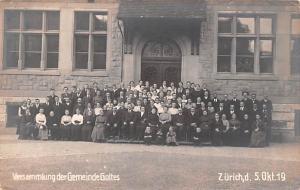 Switzerland Old Vintage Antique Post Card Versammlung der Gemeinde Gottes Unused