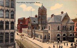 Post Office Springfield, Massachusetts Postcard