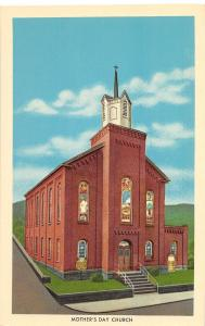 A47/ Grafton West Virginia WV Postcard c1940s Mother's Day Church Building