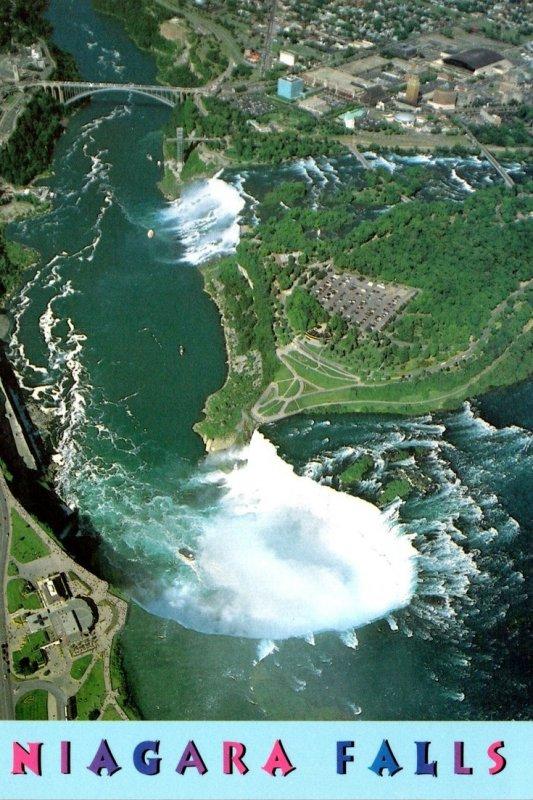 Canada Niagara Falls Aerial VIew Over Horseshoe Falls