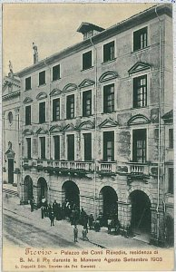 35999 CARTOLINA d'Epoca TREVISO Citta'  -  Palazzo Revedim: RESIDENZA REALE 1903