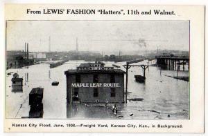 1908 FLOOD, Freight Yard, Kansas City KS