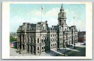 Columbus Ohio~2nd Empire Courthouse~Lang Schenk Liquor~c1910 Detroit Pub Co