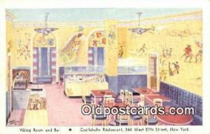 Viking Room & Bar Restaurant, New York City, NYC Postcard Post Card USA Old V...