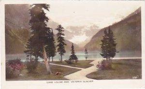 Canada British Columbia Lake Louise & Victoria Glacier 1947 Real Photo