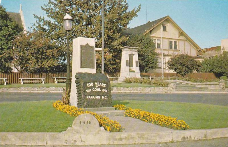 The Nanaimo Coal Monument,  Nanaimo,  B.C.,   Canada,  40-60s