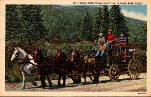 South Dakota Black Hills Stage Coach As In Gold Rush Days 1950 Curteich